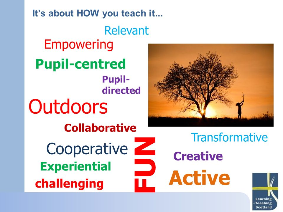 FUN Outdoors Active Cooperative Pupil-centred Empowering Relevant