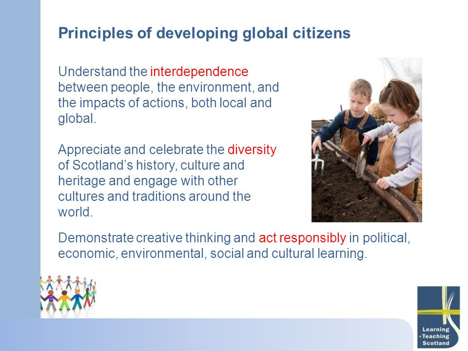 Principles of developing global citizens