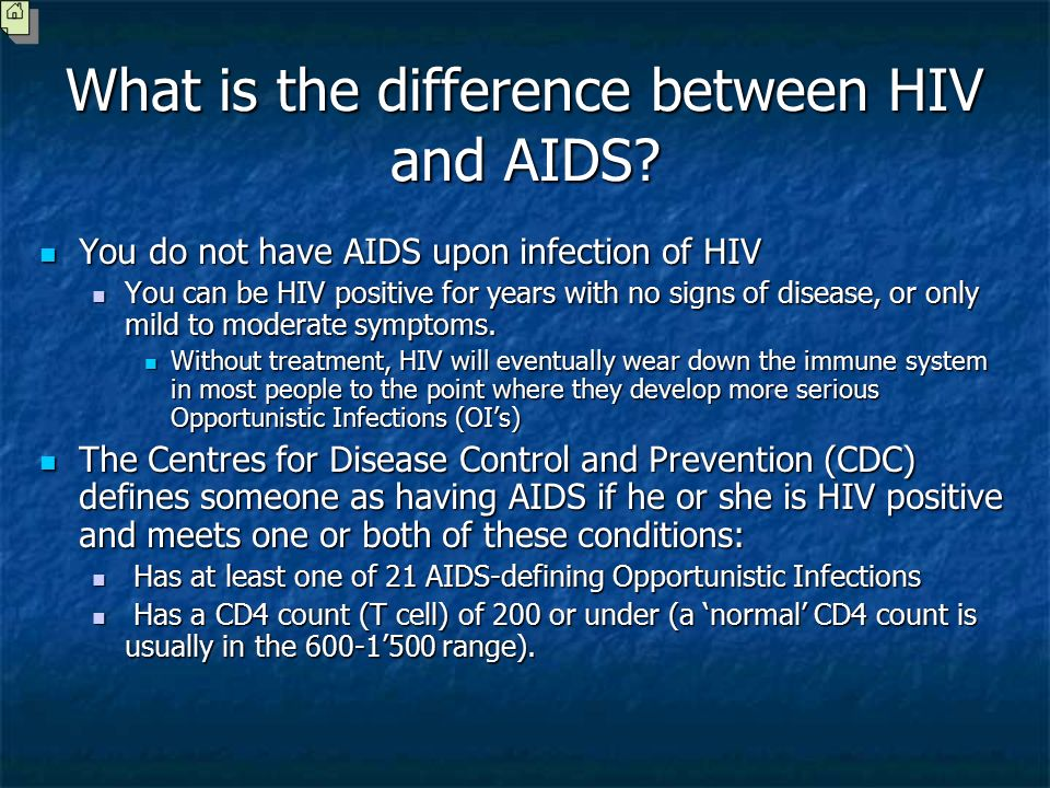 the difference between aids and hiv Today is world aids day, so let's all take a few minutes to self-educate there are certainly many crucial facts to know about both hiv and aids.