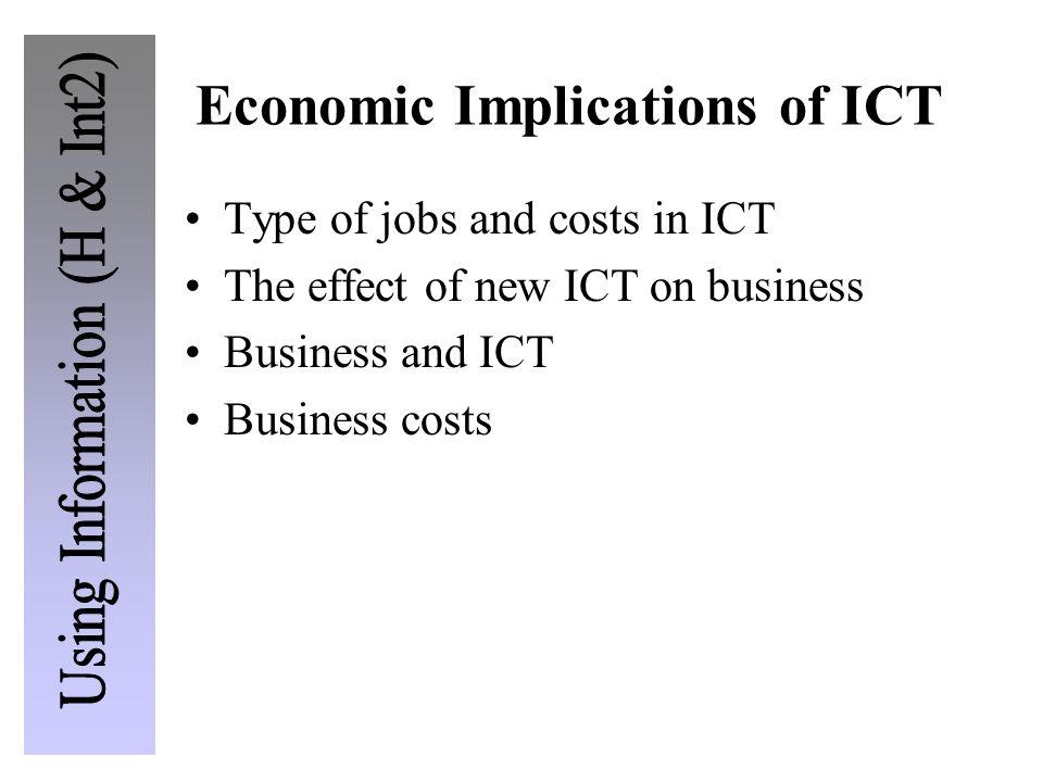 Economic Implications of ICT