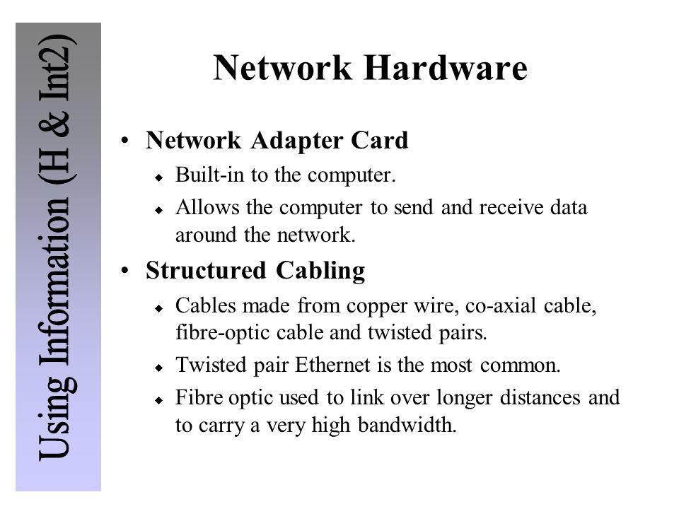 Network Hardware Network Adapter Card Structured Cabling
