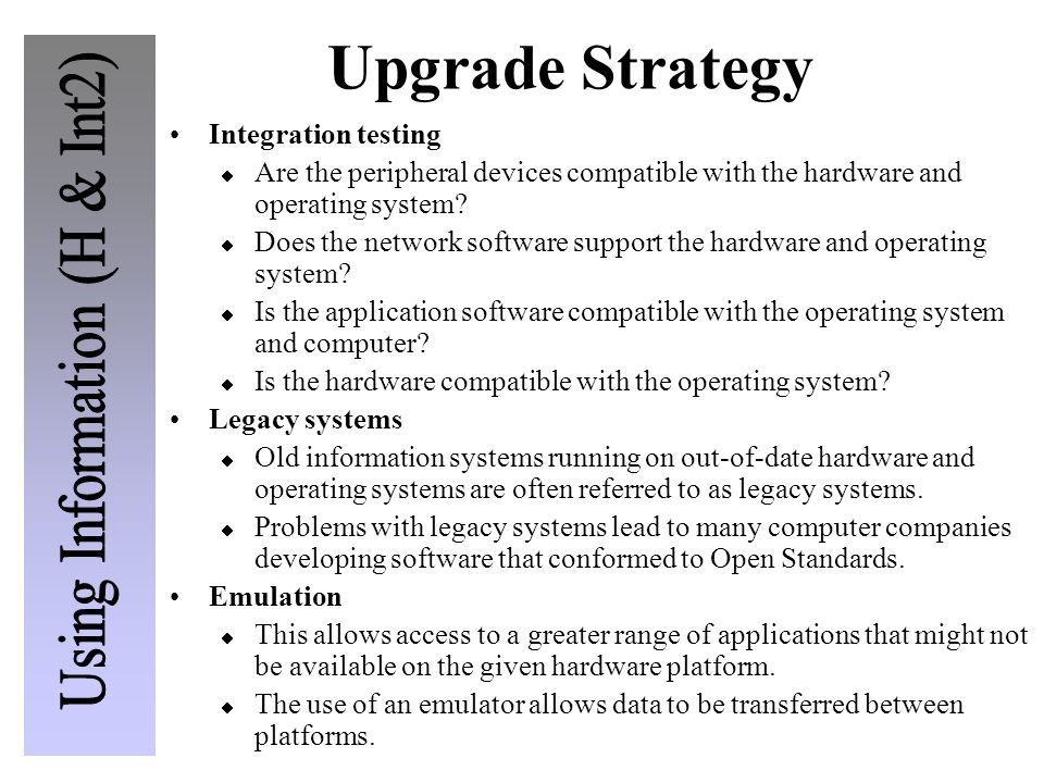 Upgrade Strategy Integration testing