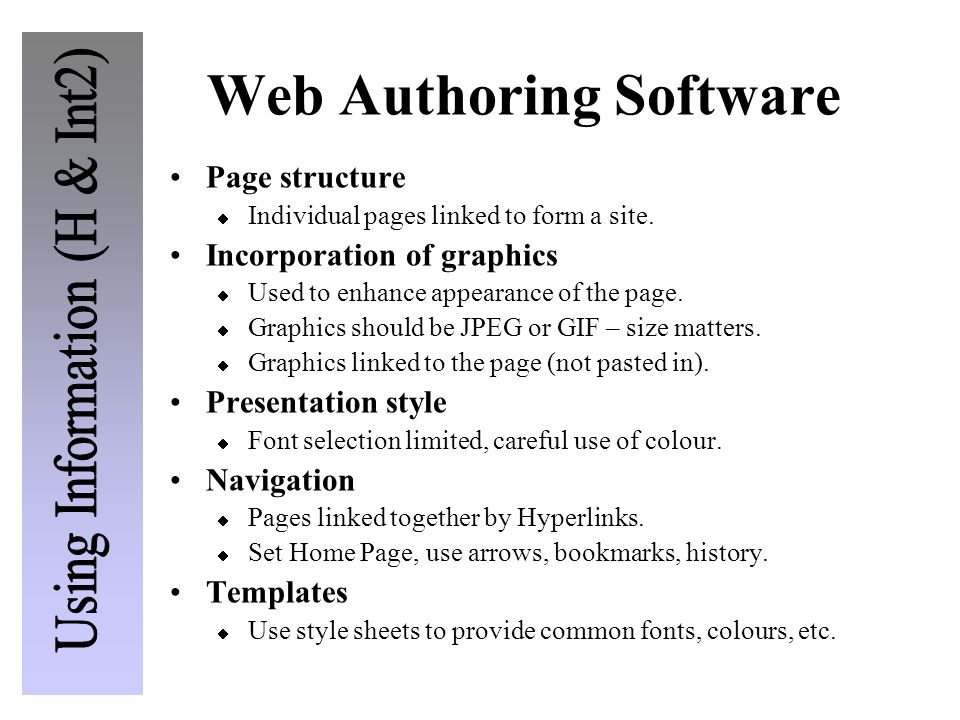 Web Authoring Software