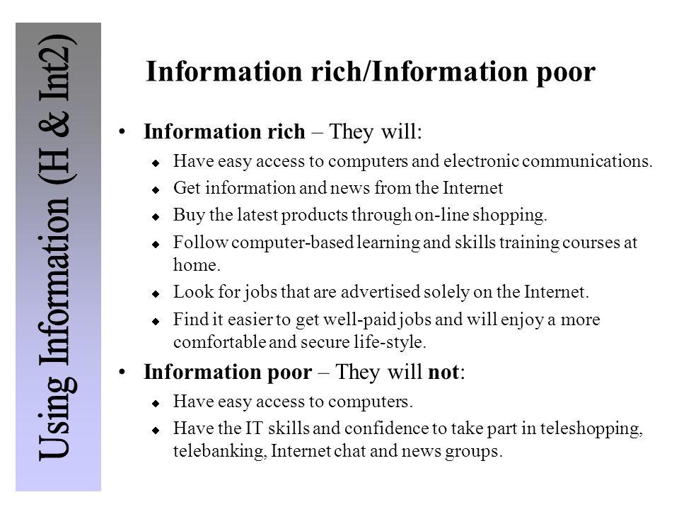 Information rich/Information poor