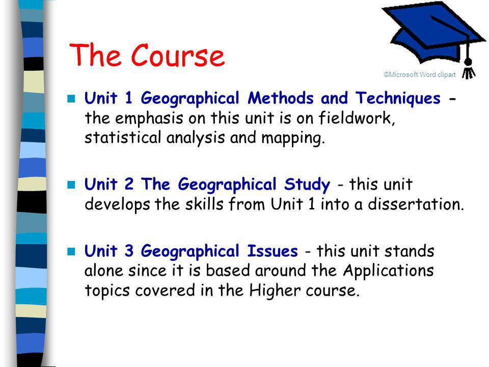 The Course ©Microsoft Word clipart.