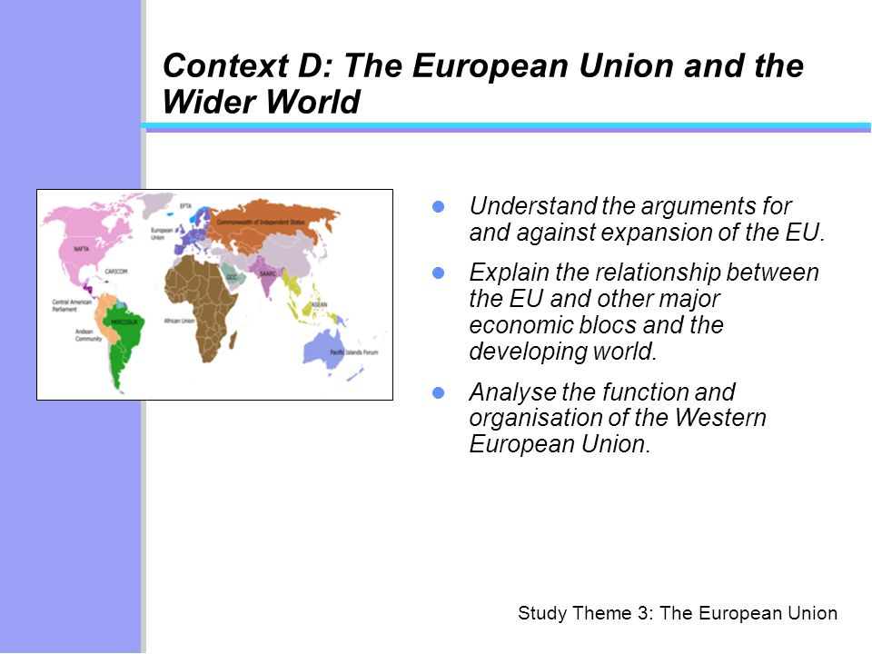 Context D: The European Union and the Wider World