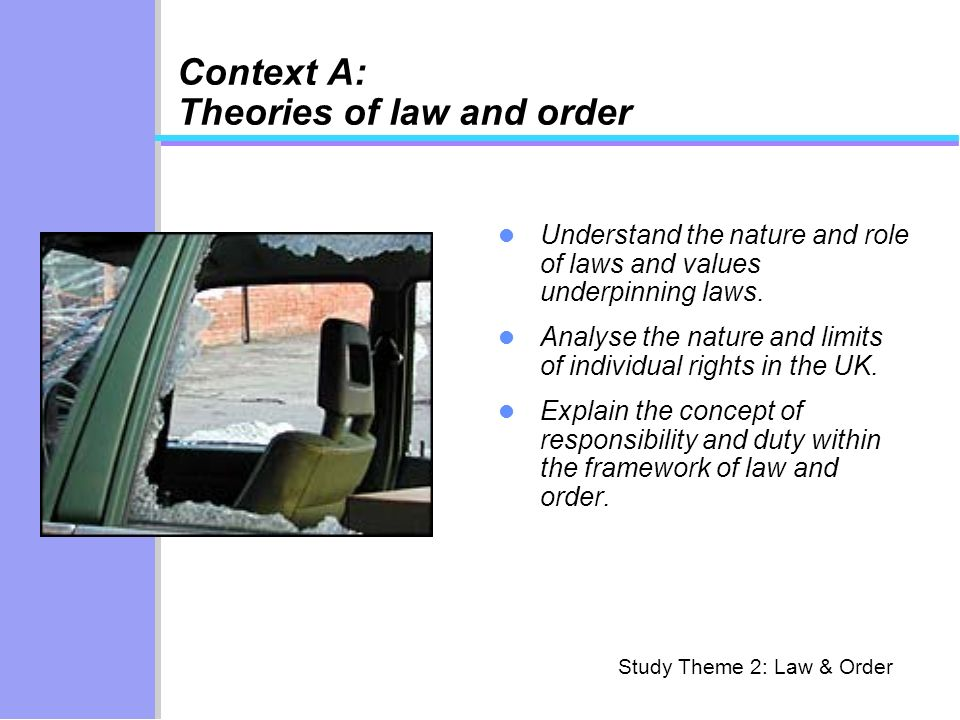 Context A: Theories of law and order