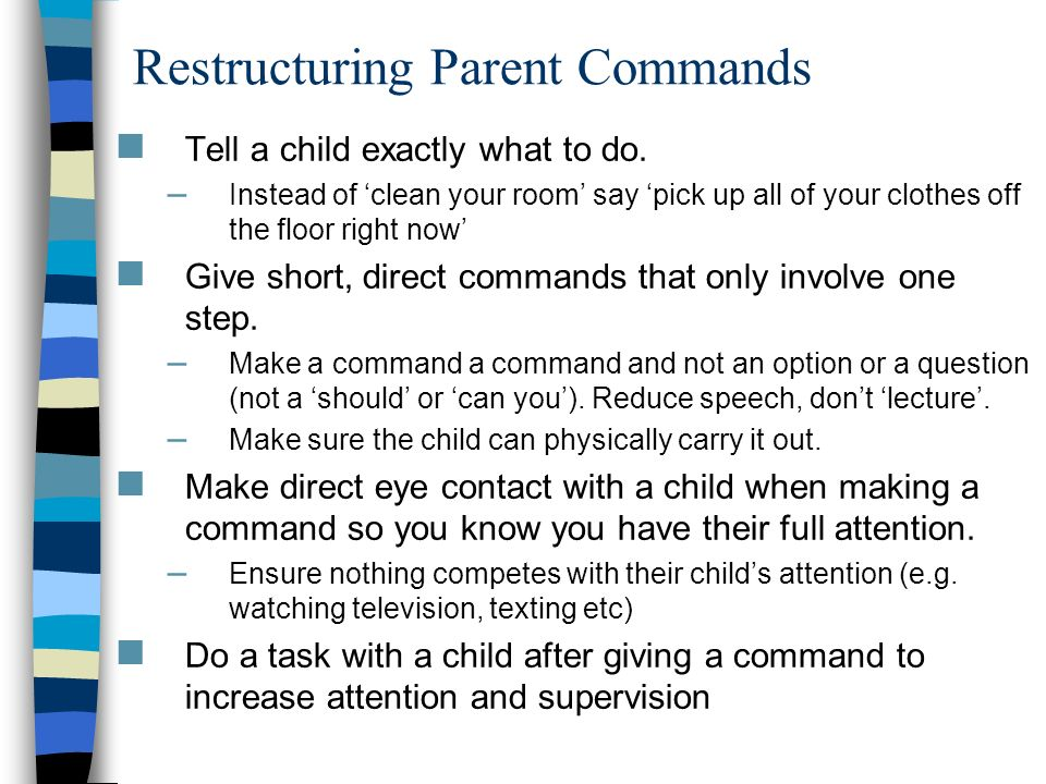 Restructuring Parent Commands