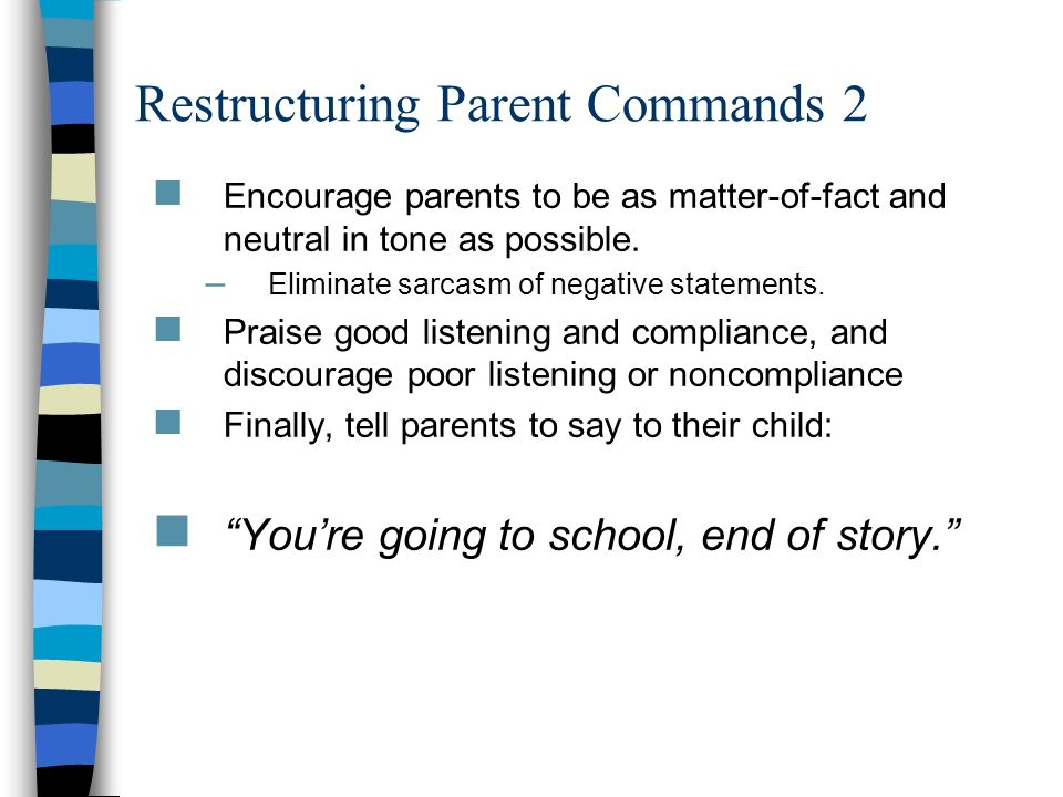 Restructuring Parent Commands 2