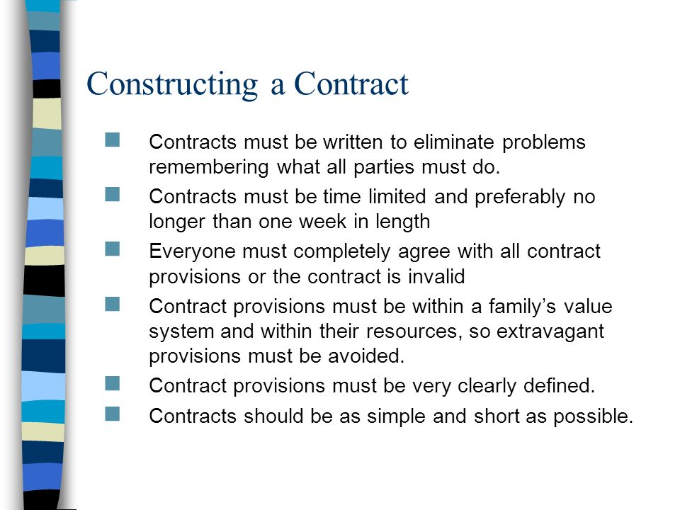 Constructing a Contract