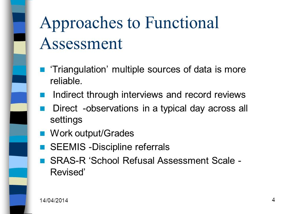 Approaches to Functional Assessment