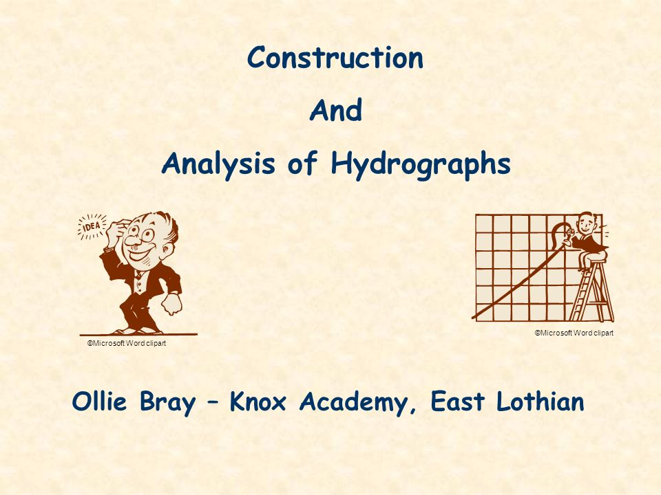 Analysis of Hydrographs