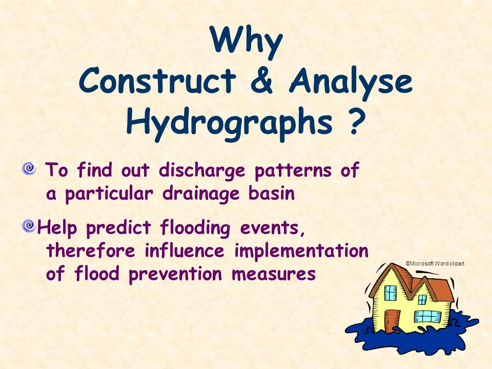 Construct & Analyse Hydrographs