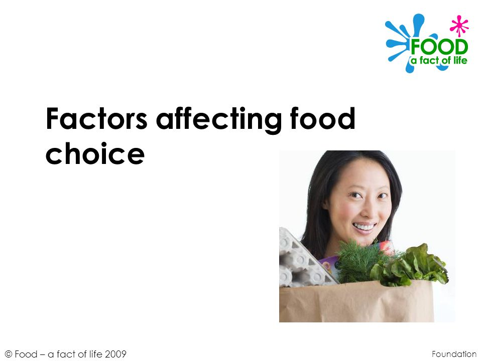 Factors affecting food choice
