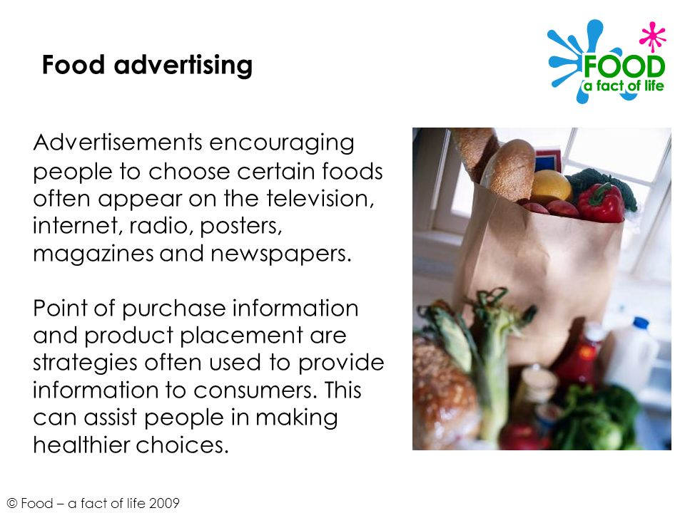 Food advertising