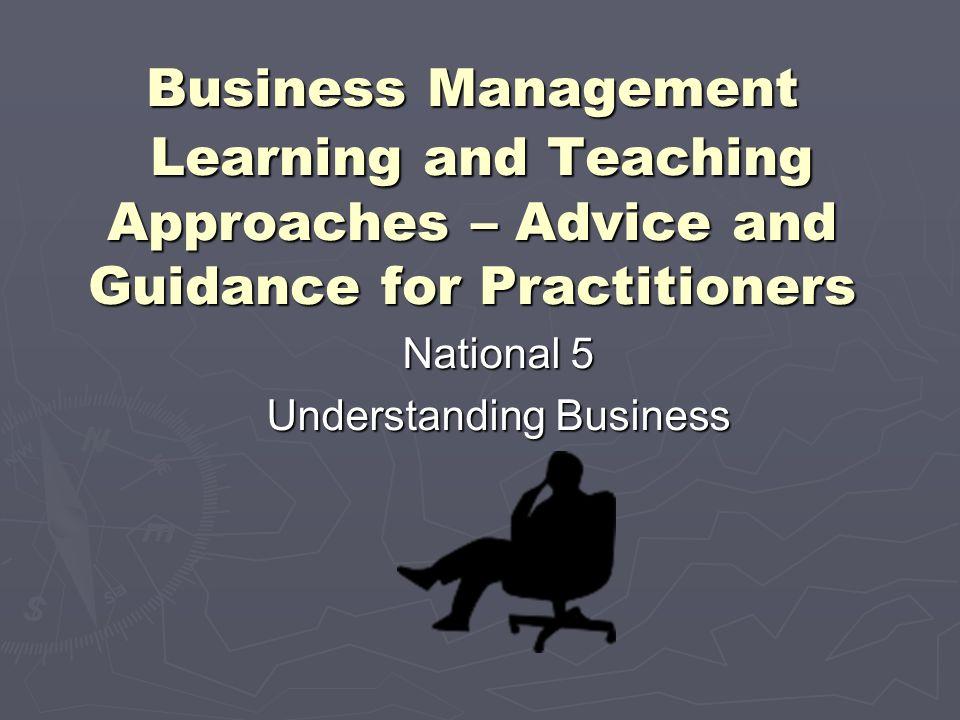 National 5 Understanding Business