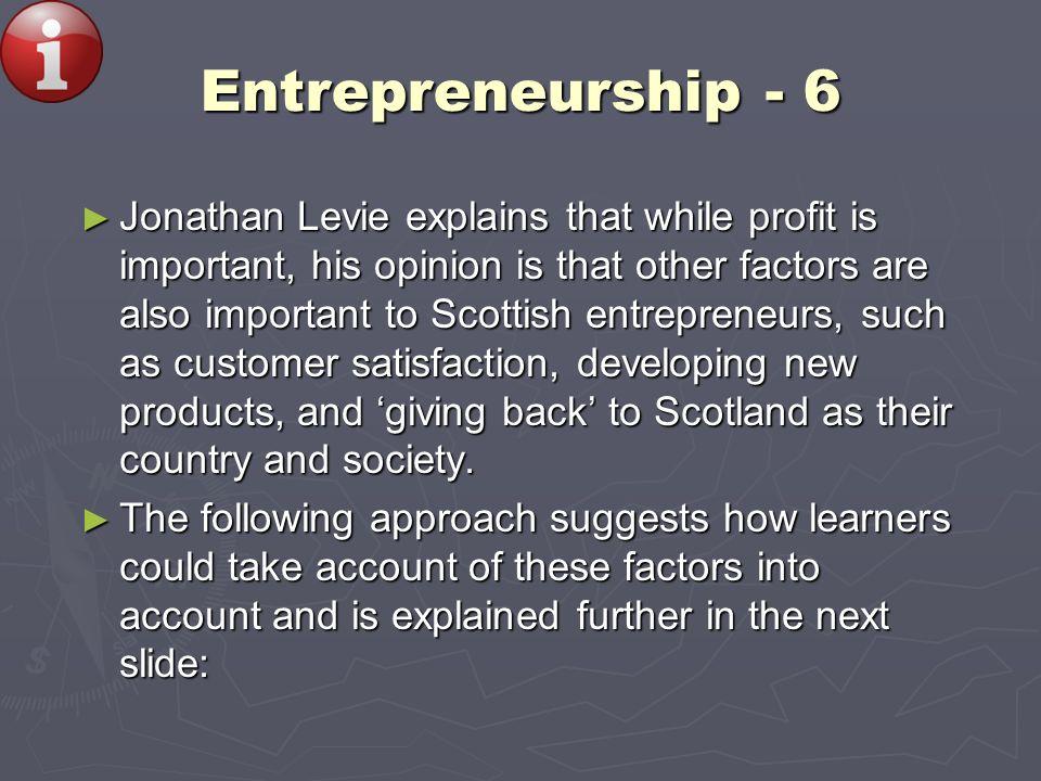 Entrepreneurship - 6