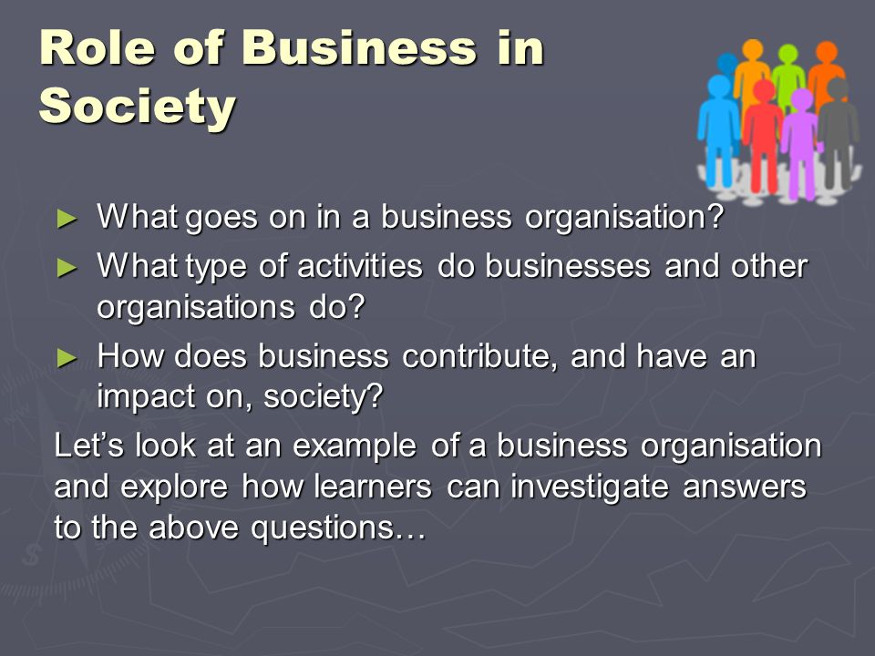 Role of Business in Society