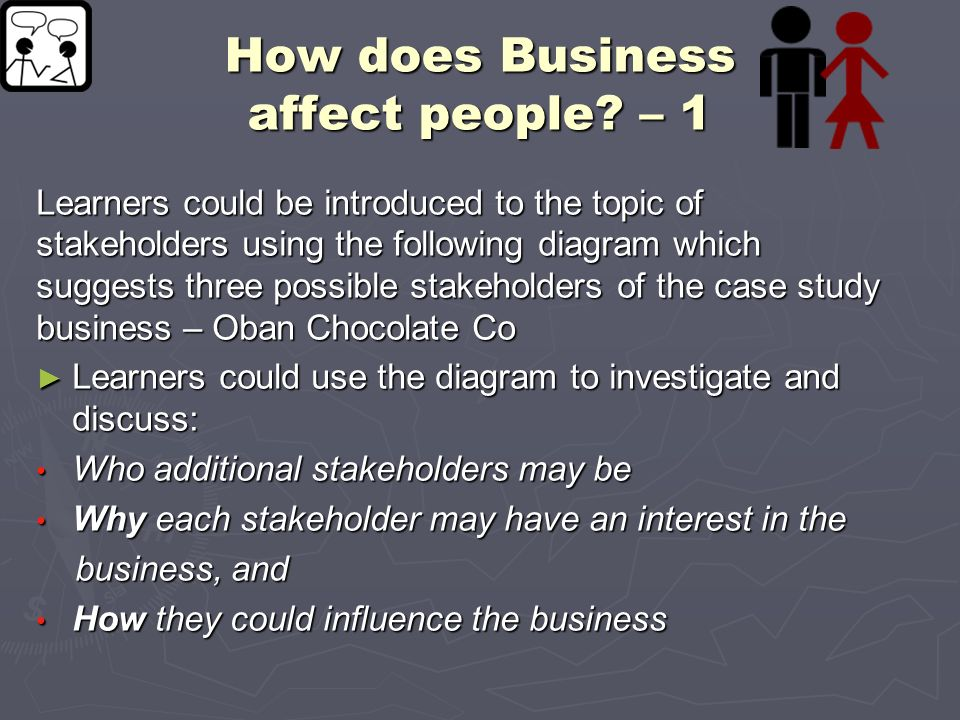 How does Business affect people – 1