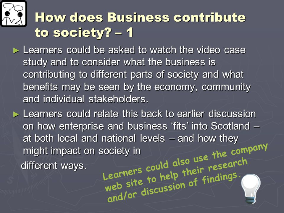 How does Business contribute to society – 1