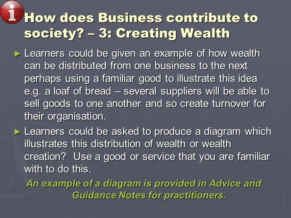 How does Business contribute to society – 3: Creating Wealth