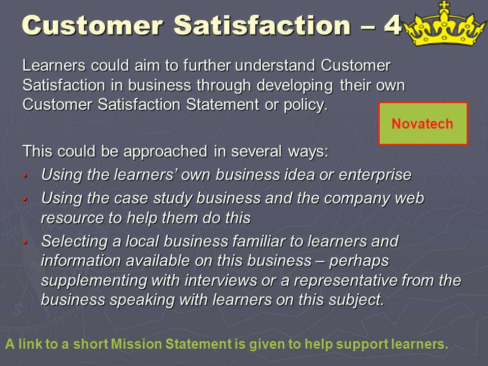 Customer Satisfaction – 4