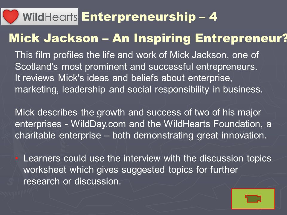 Mick Jackson – An Inspiring Entrepreneur