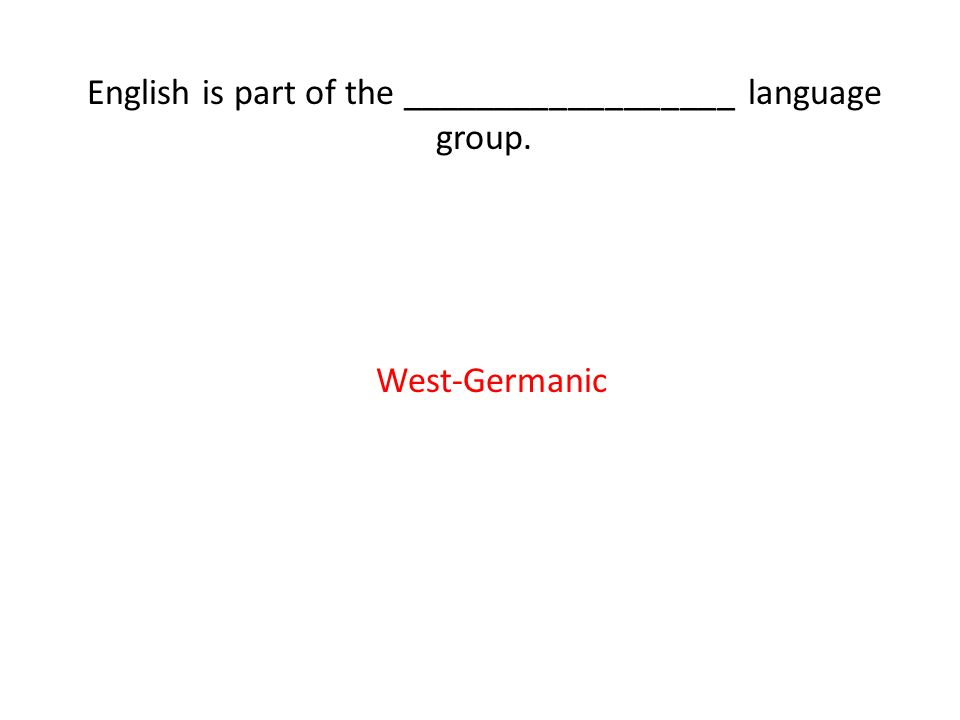 written form of a language - ppt download