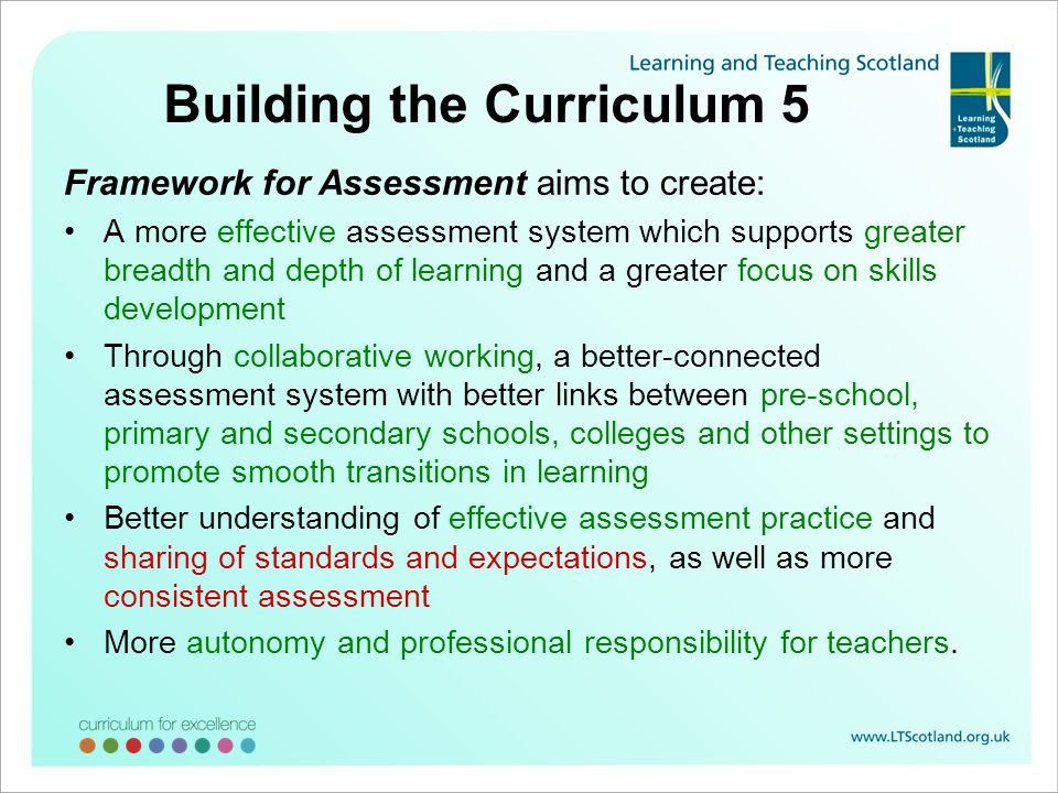 Building the Curriculum 5