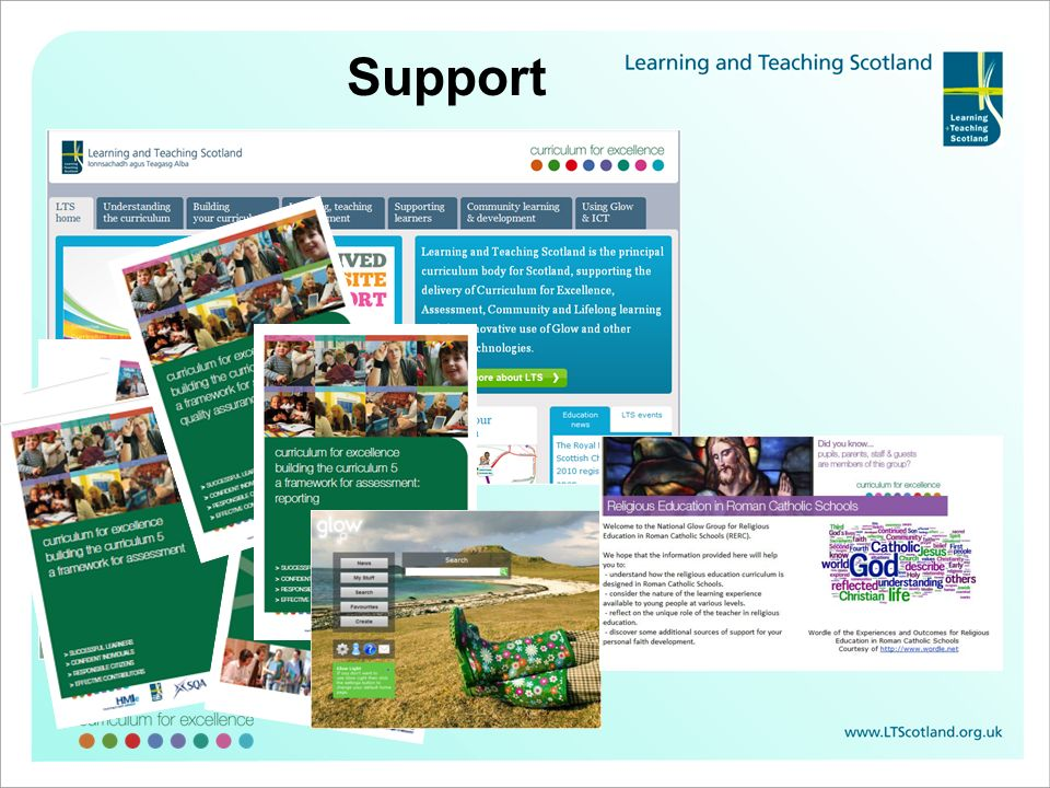 Support Learning and Teaching Scotland website: total support