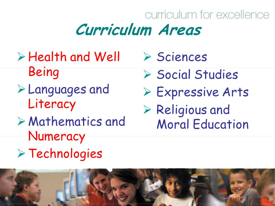 Curriculum Areas Health and Well Being Languages and Literacy
