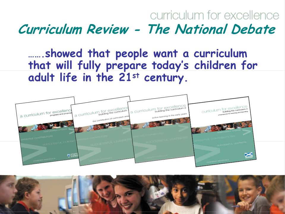 Curriculum Review - The National Debate