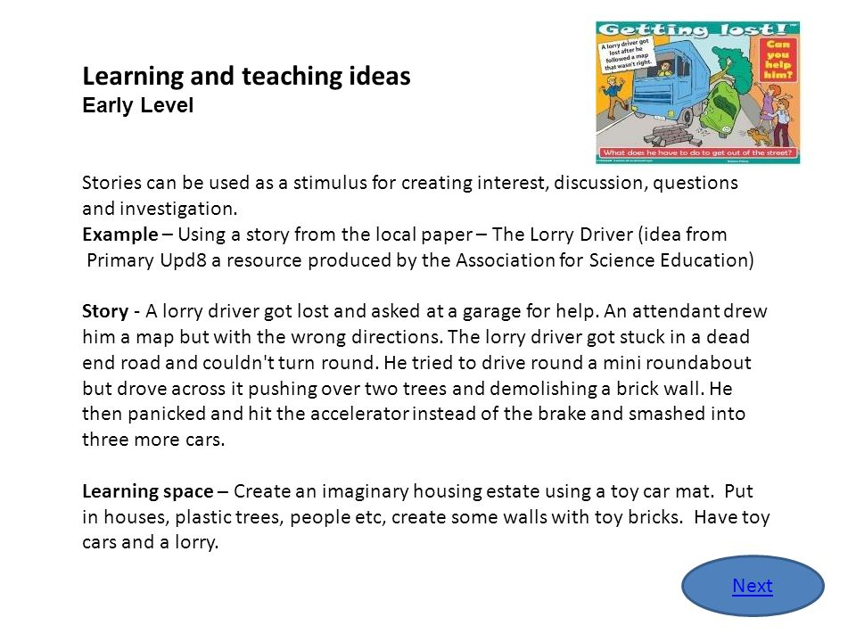 Learning and teaching ideas