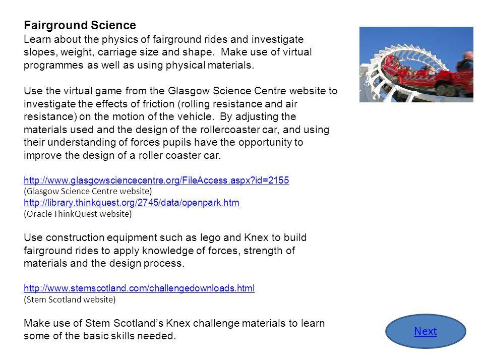 Fairground Science Next