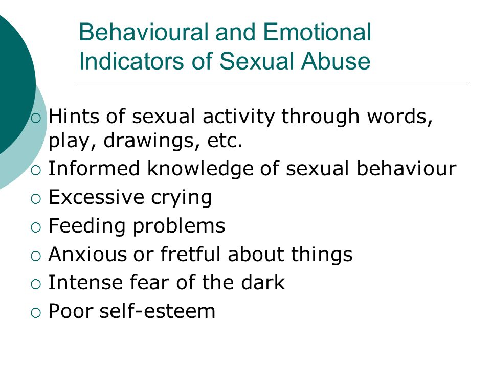 Behavioural and Emotional Indicators of Sexual Abuse