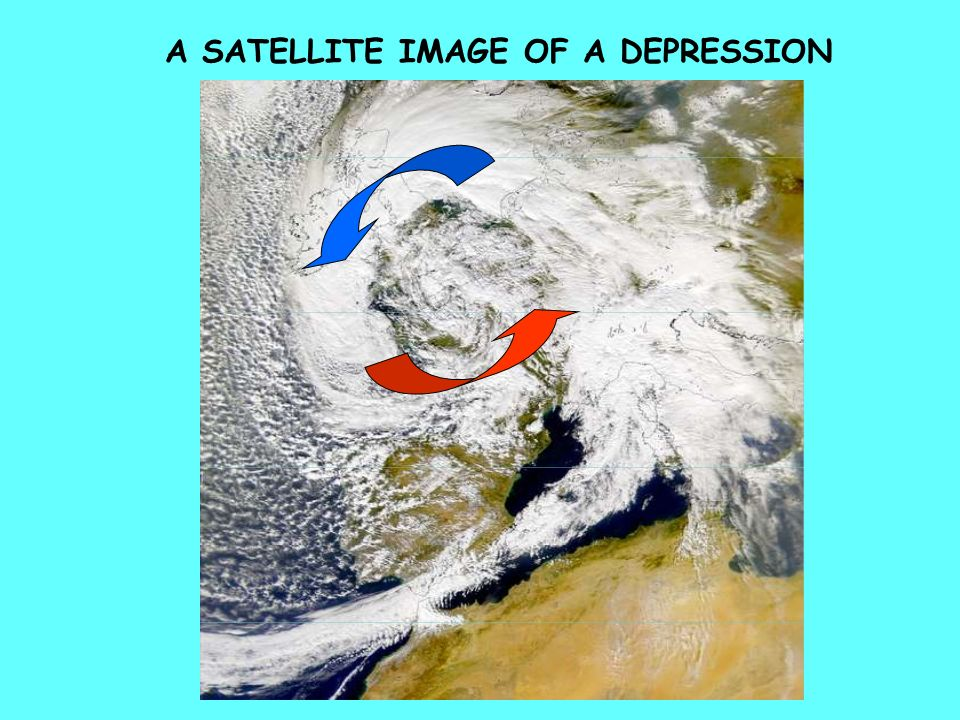 A SATELLITE IMAGE OF A DEPRESSION