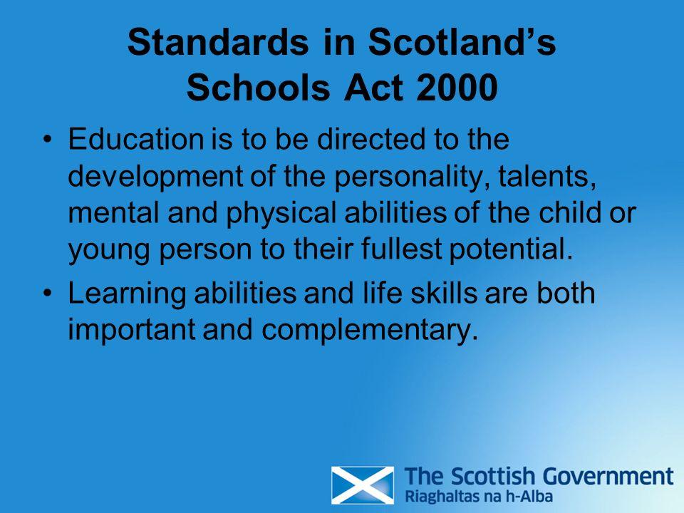 Standards in Scotland's Schools Act 2000