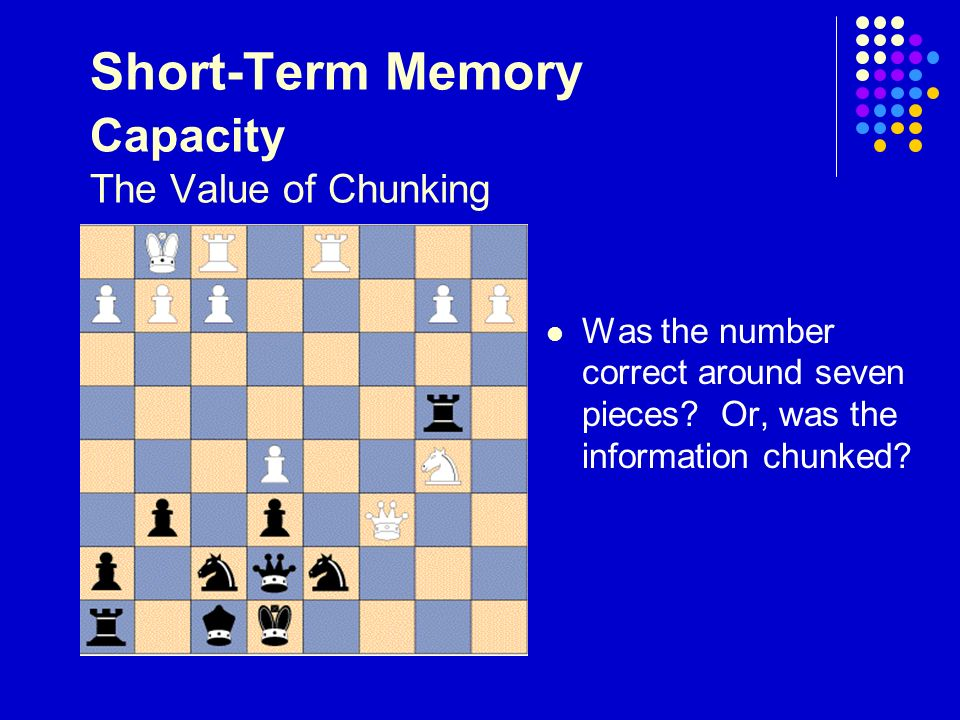 capacity duration of short term memory We investigated whether there are central capacity limitations on consolidating  information in visual short-term memory (vstm) subjects performed a visual.