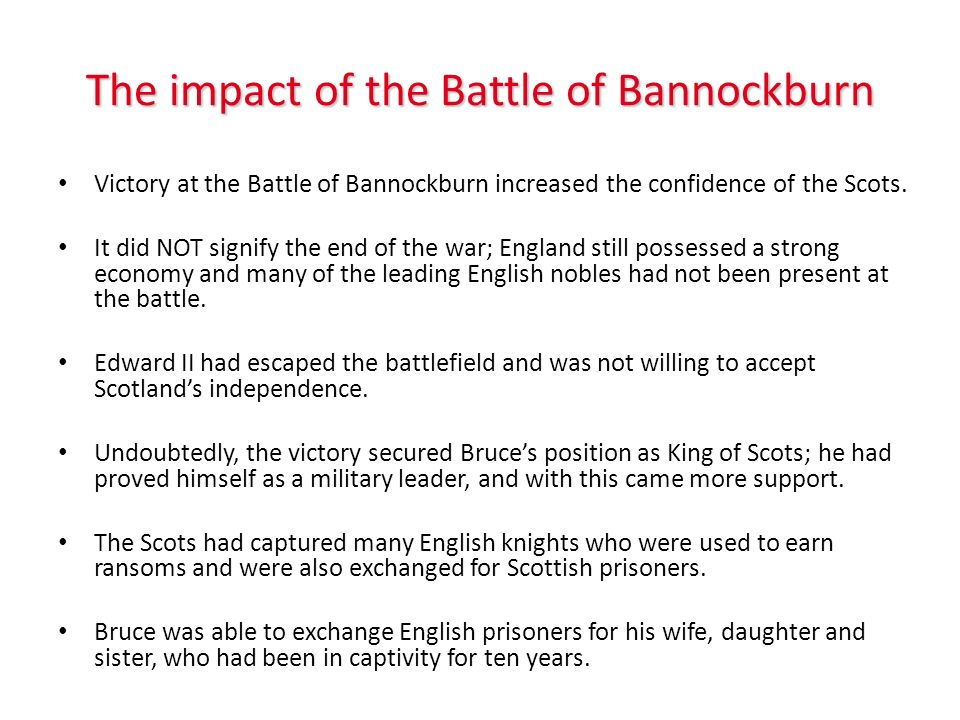 The impact of the Battle of Bannockburn