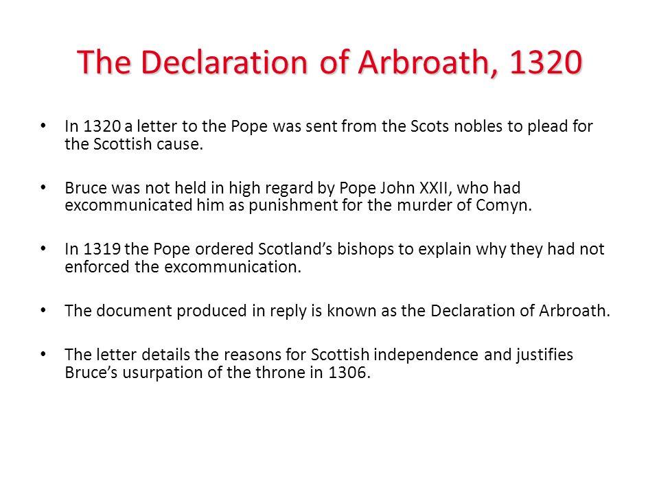 The Declaration of Arbroath, 1320
