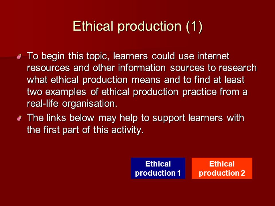 Ethical production (1)