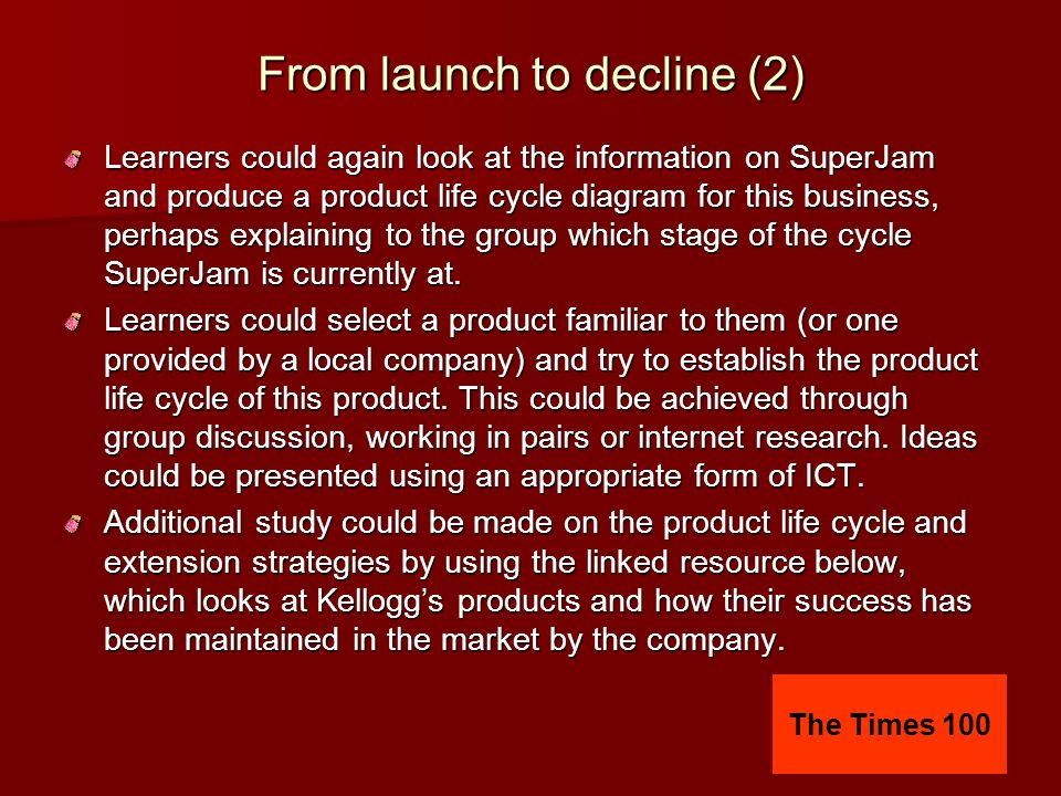 From launch to decline (2)