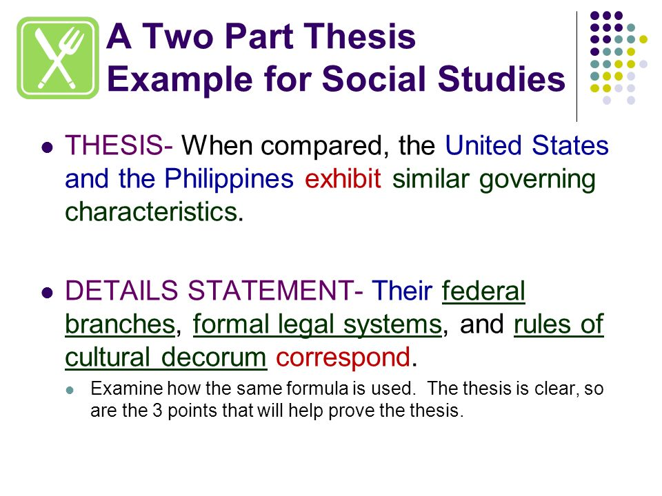 two part thesis Guidelines for the preparation of your master's thesis material from it—in whole or in part subsection 152 thesis format check.