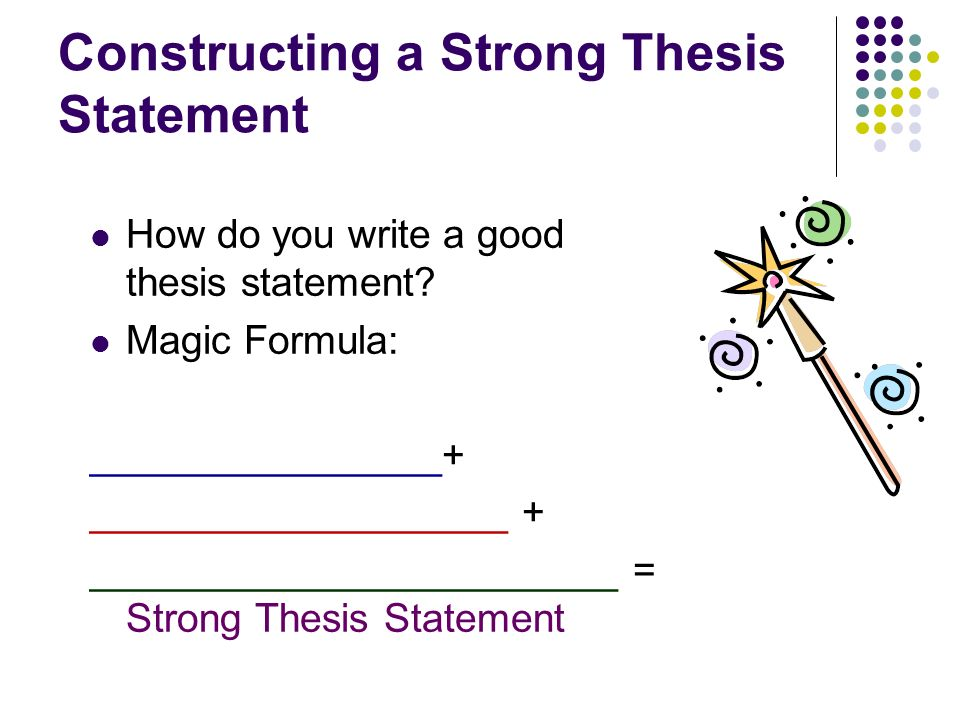 thesis statement equation Writing essays: thesis statement level: middle school a t h e s i s s t a t e me n t s t a r t s y our.