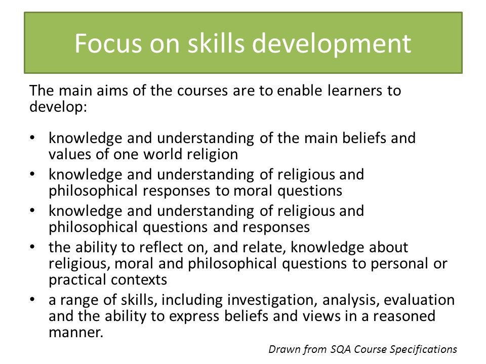 Focus on skills development