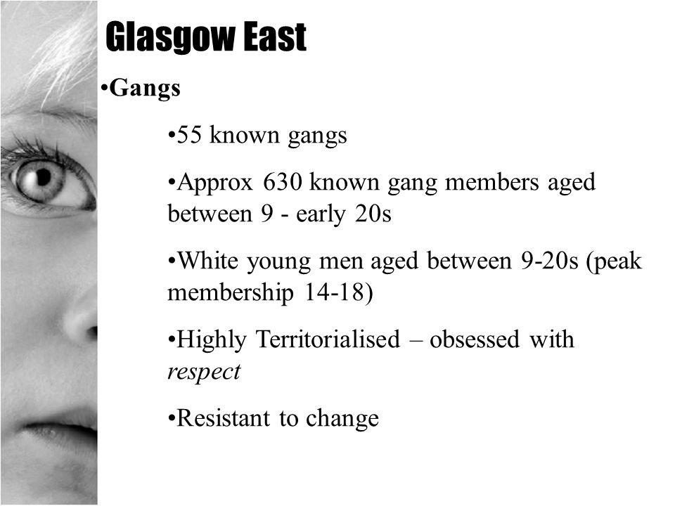 Glasgow East Gangs 55 known gangs