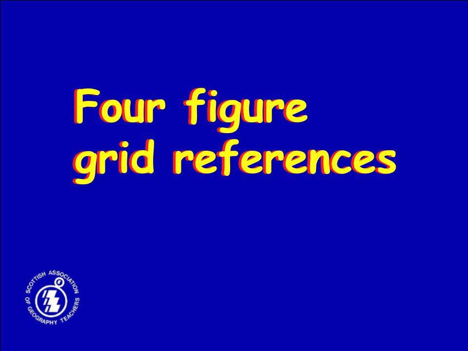 Four figure grid references