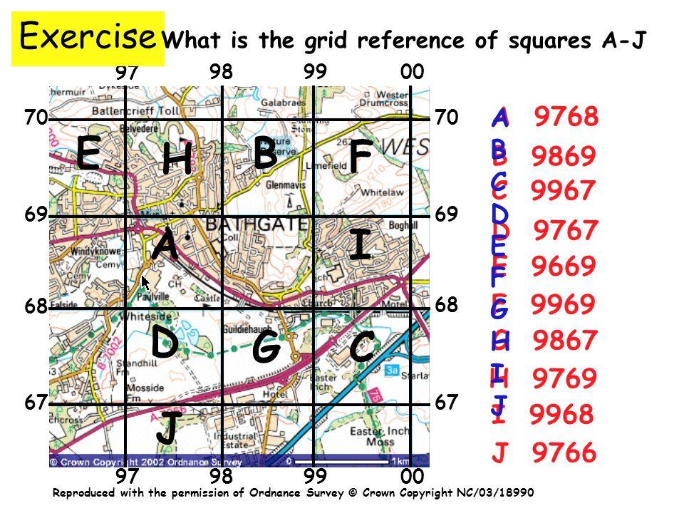 E B H F A I D G C J Exercise A A 9768 B C D E F G H I J B 9869 C 9967