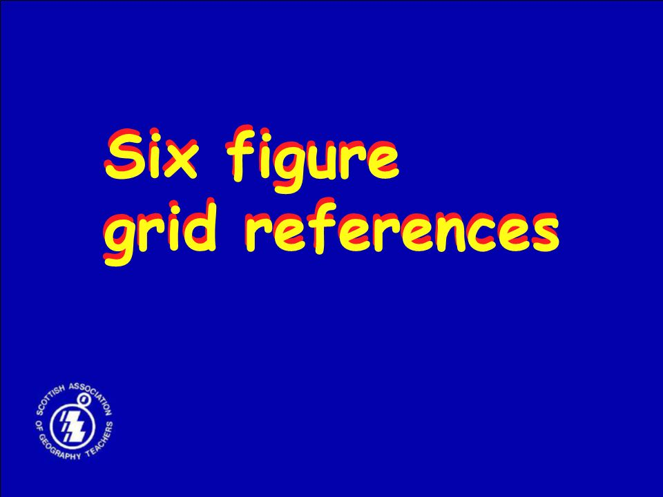 Six figure grid references