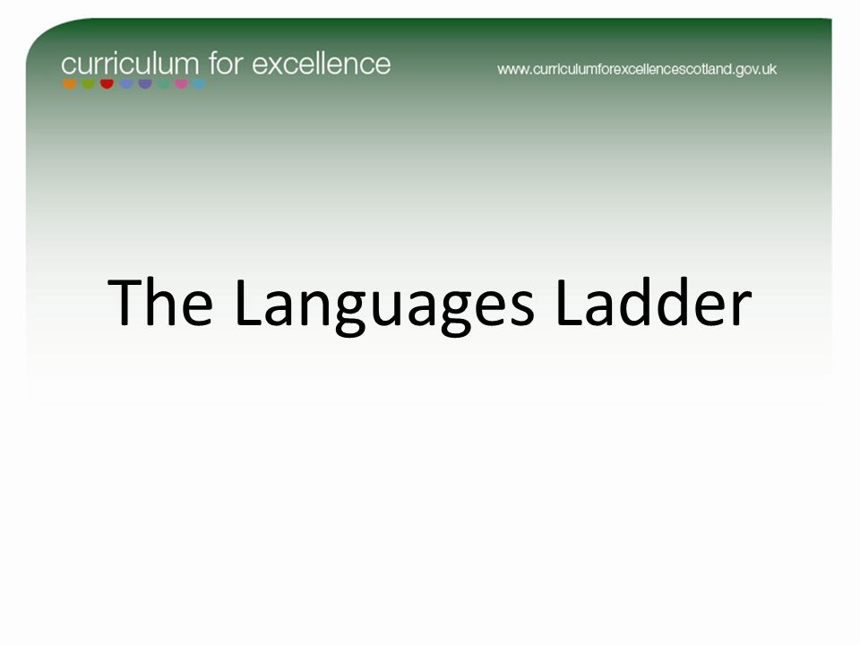 The Languages Ladder